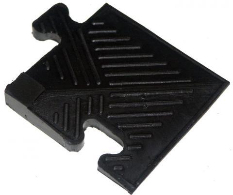 Уголок для резинового бордюра, черный, толщина 20 мм MB Barbell MB-MatB-Cor20