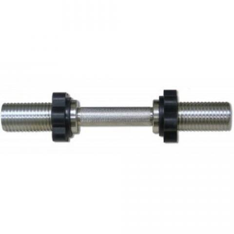 Гриф для гантели хромированный, 390 мм MB Barbell MB-BarM50-M390B