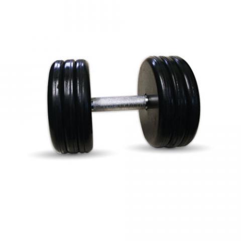 """Гантель черная """"Классик"""" 25 кг MB Barbell MB-FdbEM-BN25"""
