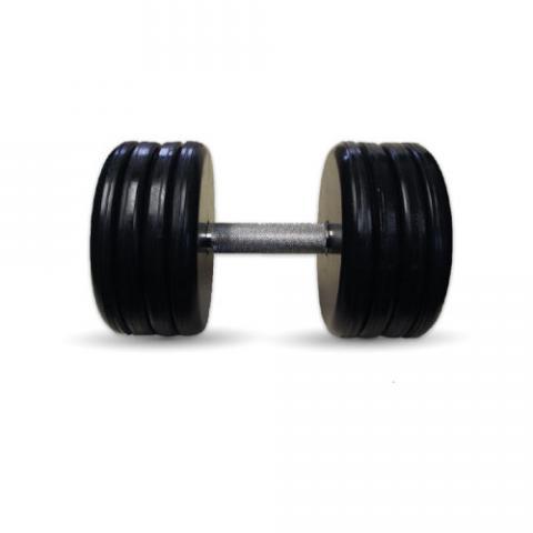 """Гантель черная """"Классик"""" 46 кг MB Barbell MB-FdbEM-BN46"""