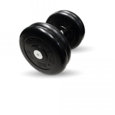 "Гантель неразборная черная ""Профи"" 21 кг MB Barbell MB-FdbM-B21"
