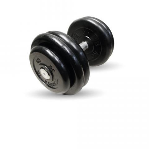 "Гантель неразборная черная ""Профи"" 23.5 кг MB Barbell MB-FdbM-B23,5"