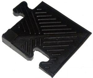 Уголок для резинового бордюра, черный, толщина 12 мм MB Barbell MB-MatB-Cor12