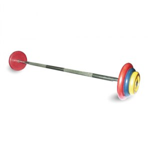 Штанга неразборная с цветными дисками MB Barbell MB-BarMW-C27,5