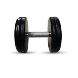 """Гантель черная """"Классик"""" 22 кг MB Barbell MB-FdbEM-B22"""