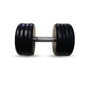"""Гантель черная """"Классик"""" 43 кг MB Barbell MB-FdbEM-B43"""